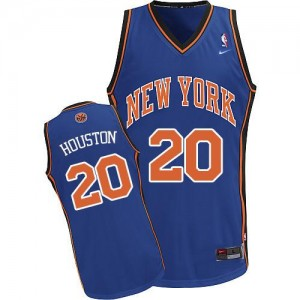 Maillot Authentic New York Knicks NBA Throwback Bleu royal - #20 Allan Houston - Homme