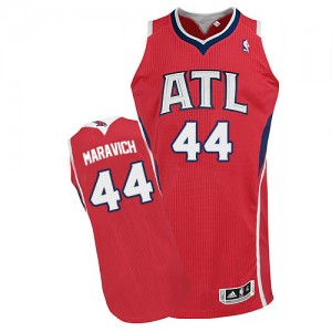 Atlanta Hawks #44 Adidas Alternate Rouge Authentic Maillot d'équipe de NBA la vente - Pete Maravich pour Homme