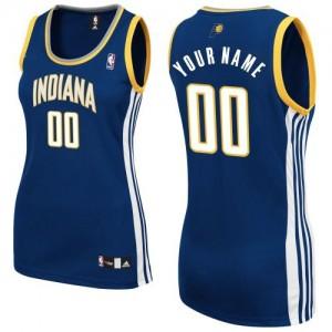 Indiana Pacers Authentic Personnalisé Road Maillot d'équipe de NBA - Bleu marin pour Femme