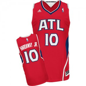 Maillot NBA Atlanta Hawks #10 Tim Hardaway Jr. Rouge Adidas Swingman Alternate - Homme