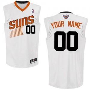 Maillot NBA Blanc Authentic Personnalisé Phoenix Suns Home Homme Adidas