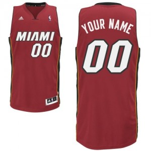 Miami Heat Swingman Personnalisé Alternate Maillot d'équipe de NBA - Rouge pour Enfants