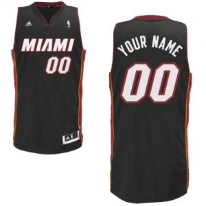 Maillot Adidas Noir Road Miami Heat - Swingman Personnalisé - Homme