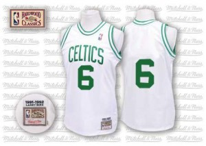 Maillot Authentic Boston Celtics NBA Throwback Blanc - #6 Bill Russell - Homme