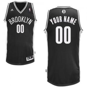 Maillot Adidas Noir Road Brooklyn Nets - Swingman Personnalisé - Homme