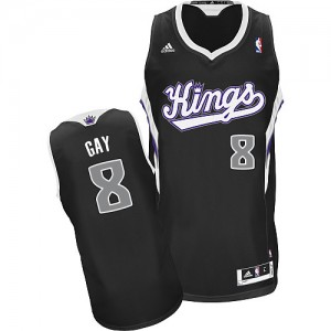 Maillot Swingman Sacramento Kings NBA Alternate Noir - #8 Rudy Gay - Homme