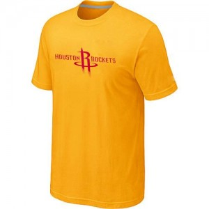 T-Shirt NBA Jaune Houston Rockets Big & Tall Homme