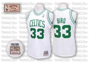 Maillot NBA Swingman Larry Bird #33 Boston Celtics Throwback Blanc - Homme