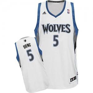 Maillot Swingman Minnesota Timberwolves NBA Home Blanc - #5 Gorgui Dieng - Homme