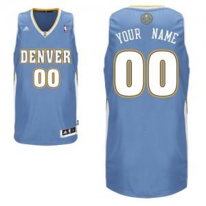 Denver Nuggets Personnalisé Adidas Road Bleu clair Maillot d'équipe de NBA en ligne - Swingman pour Homme