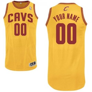 Maillot Adidas Or Alternate Cleveland Cavaliers - Authentic Personnalisé - Homme