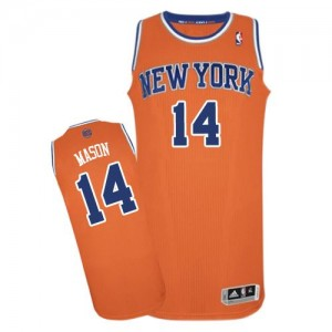 Maillot NBA Orange Anthony Mason #14 New York Knicks Alternate Authentic Homme Adidas
