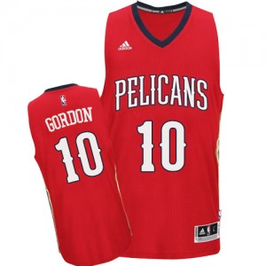 Maillot NBA New Orleans Pelicans #10 Eric Gordon Rouge Adidas Authentic Alternate - Homme