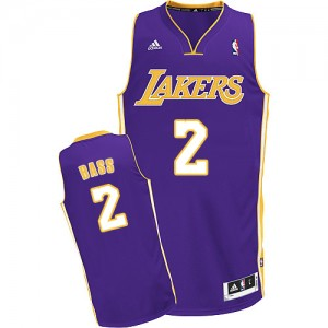 Los Angeles Lakers Brandon Bass #2 Road Swingman Maillot d'équipe de NBA - Violet pour Homme