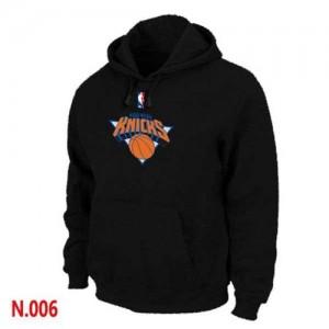New York Knicks Noir Sweat à capuche d'équipe de NBA pas cher en ligne - pour Homme
