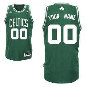 Maillot NBA Vert (No Blanc) Swingman Personnalisé Boston Celtics Road Enfants Adidas