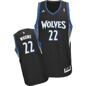 Maillot NBA Minnesota Timberwolves #22 Andrew Wiggins Noir Adidas Swingman Alternate - Homme