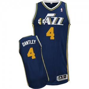 Maillot Adidas Bleu marin Road Authentic Utah Jazz - Adrian Dantley #4 - Homme