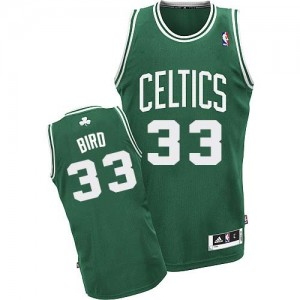 Maillot NBA Boston Celtics #33 Larry Bird Vert (No Blanc) Adidas Swingman Road - Enfants