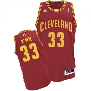 Maillot Swingman Cleveland Cavaliers NBA Road Vin Rouge - #33 Shaquille O'Neal - Homme