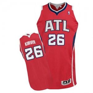 Maillot NBA Authentic Kyle Korver #26 Atlanta Hawks Alternate Rouge - Homme