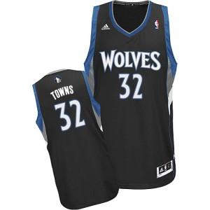 Maillot Swingman Minnesota Timberwolves NBA Alternate Noir - #32 Karl-Anthony Towns - Homme