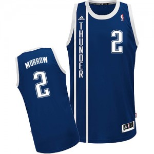 Maillot NBA Oklahoma City Thunder #2 Anthony Morrow Bleu marin Adidas Swingman Alternate - Homme