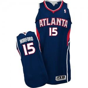 Maillot Adidas Bleu marin Road Authentic Atlanta Hawks - Al Horford #15 - Homme
