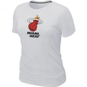 Miami Heat Big & Tall T-Shirt d'équipe de NBA - Blanc pour Femme