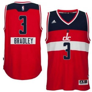 Maillot NBA Washington Wizards #3 Bradley Beal Rouge Adidas Authentic 2014-15 Christmas Day - Homme