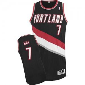Portland Trail Blazers Brandon Roy #7 Road Authentic Maillot d'équipe de NBA - Noir pour Homme