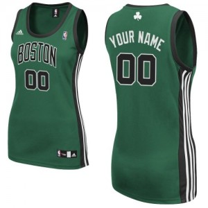 Maillot Boston Celtics NBA Alternate Vert (No. noir) - Personnalisé Swingman - Femme
