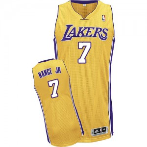 Los Angeles Lakers #7 Adidas Home Or Authentic Maillot d'équipe de NBA Prix d'usine - Larry Nance Jr. pour Homme