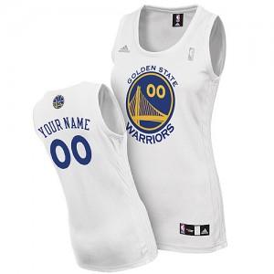 Maillot NBA Swingman Personnalisé Golden State Warriors Home Blanc - Femme