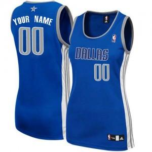 Maillot Adidas Bleu marin Alternate Dallas Mavericks - Authentic Personnalisé - Femme