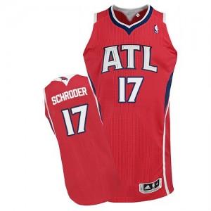 Atlanta Hawks Dennis Schroder #17 Alternate Authentic Maillot d'équipe de NBA - Rouge pour Homme