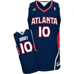 Atlanta Hawks #10 Adidas Road Bleu marin Swingman Maillot d'équipe de NBA Peu co?teux - Mike Bibby pour Homme