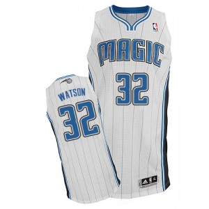 Maillot NBA Orlando Magic #32 C.J. Watson Blanc Adidas Authentic Home - Homme