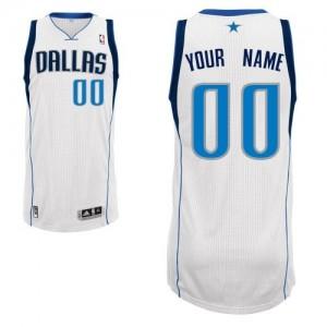 Dallas Mavericks Authentic Personnalisé Home Maillot d'équipe de NBA - Blanc pour Homme
