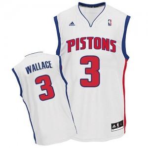 Maillot NBA Swingman Ben Wallace #3 Detroit Pistons Home Blanc - Homme