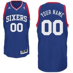 Philadelphia 76ers Personnalisé Adidas Alternate Bleu royal Maillot d'équipe de NBA Magasin d'usine - Swingman pour Enfants