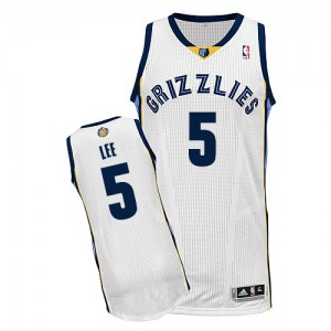 Maillot Authentic Memphis Grizzlies NBA Home Blanc - #5 Courtney Lee - Homme