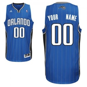 Maillot Adidas Bleu royal Road Orlando Magic - Swingman Personnalisé - Homme