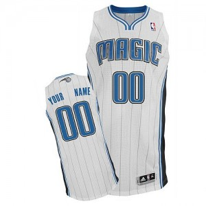 Maillot NBA Orlando Magic Personnalisé Authentic Blanc Adidas Home - Homme