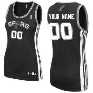 Maillot San Antonio Spurs NBA Road Noir - Personnalisé Authentic - Femme
