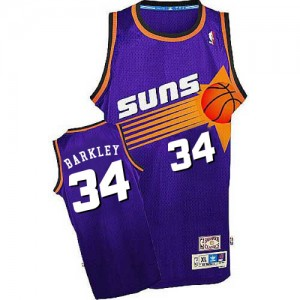 Maillot Mitchell and Ness Violet Throwback Authentic Phoenix Suns - Charles Barkley #34 - Homme