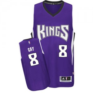 Maillot Authentic Sacramento Kings NBA Road Violet - #8 Rudy Gay - Homme