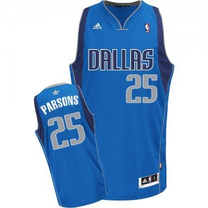 Maillot NBA Swingman Chandler Parsons #25 Dallas Mavericks Road Bleu royal - Homme