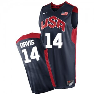 Team USA #14 Nike 2012 Olympics Bleu marin Swingman Maillot d'équipe de NBA à vendre - Anthony Davis pour Homme