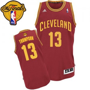 Cleveland Cavaliers #13 Adidas Road 2015 The Finals Patch Vin Rouge Swingman Maillot d'équipe de NBA pour pas cher - Tristan Thompson pour Homme